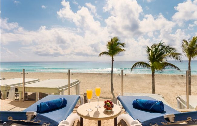 Relaxing on the beach at the Playa Gran Caribe in Cancun, Mexico. Photo courtesy Gran Caribe