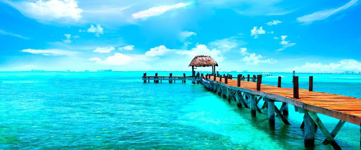 ocean in cancun, mexico.
