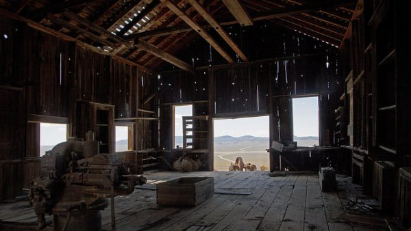 Ghost town relics at the Nevada Ghost Town Berlin, taken inside Berlin-Ichthyosaur State Park in Central Nevada. Photo by TravelNevada/Sydney Martinez