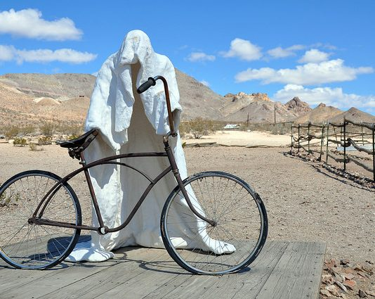 Ghost towns: A statue at the open air museum. Photo by Chris Moran/TravelNevada