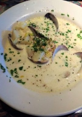 Award-winning clam chowder at The Depot Restaurant. Photo by Debbie Miller Pond