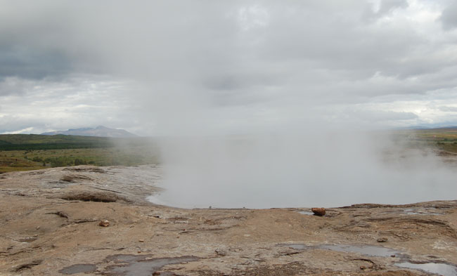 Iceland Golden Circle: Steaming cauldrons at Geysir. Photo by Kayla Lewkowicz