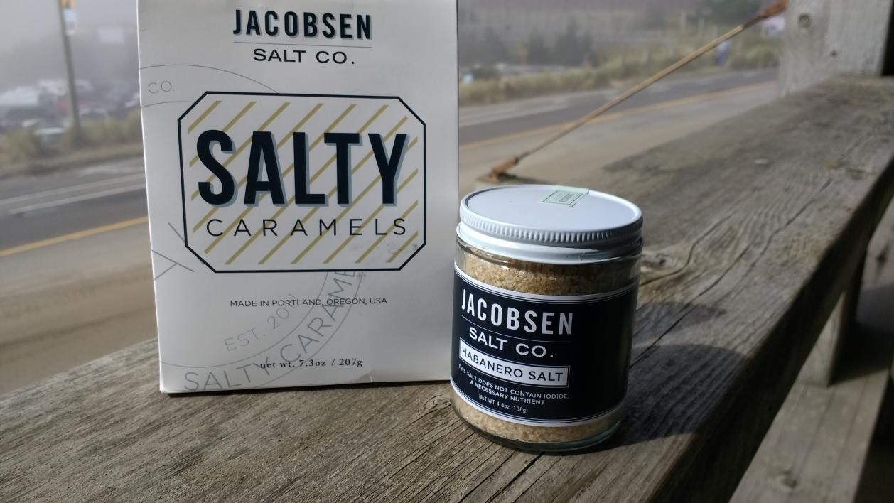 Jacobsen Salt CO. products, photo by Debbie Miller Pond