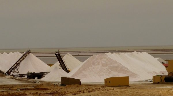 Namibia. Walvis Bay Salt Works. Photo by Jeanne Block