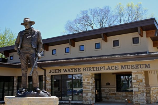 Iowa. John Wayne Statue. Photo by Bruce N. Meyer