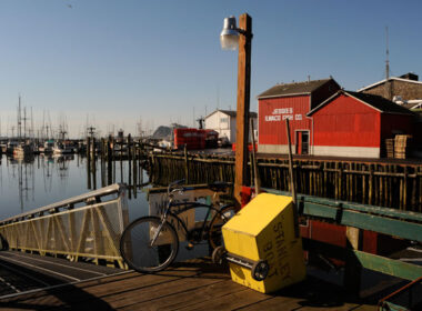 Quiet morning on the dock. Photo by Long Beach Peninsula Visitor's Bureau