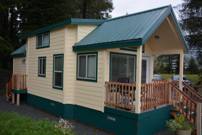 Tiny Home at Sheltered Nook on Tillamook Bay. Photo by Jim Pond
