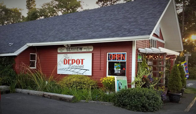 The Depot Restaurant in Seaview, WA, photo by Debbie Miller Pond