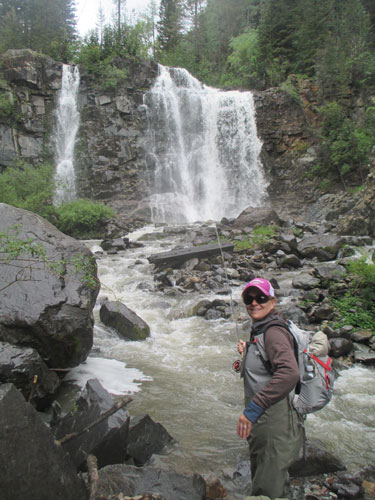 The author fly-fishing in Telluride.