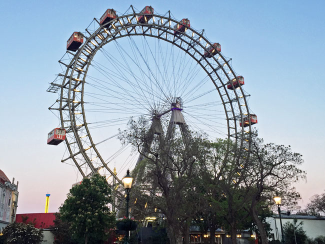 The Riesenrod is the historic giant ferris wheel in Vienna. Photo by Janna Graber