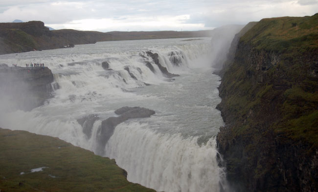 The mighty Gullfoss Waterfall. Photo by Kayla Lewkowicz