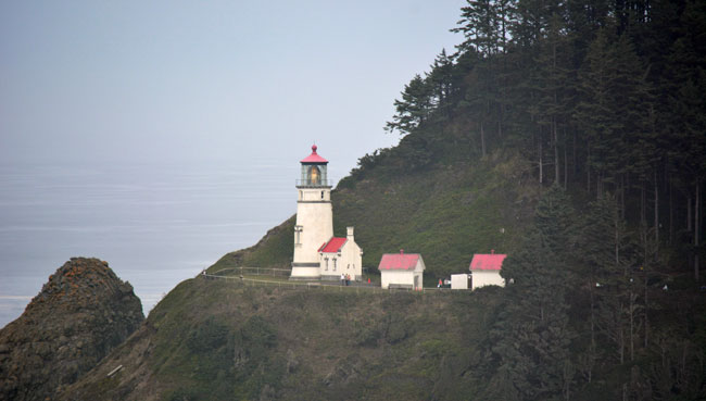 Haceta Head Lighthouse on Pacific Coast Highway Central Oregon, Photo by Debbie Miller Pond