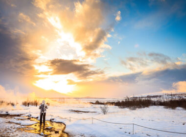 Sunset near Geysir, Iceland. Flickr/Andrés Nieto Porras