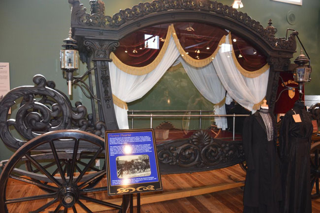Hearse from Vienna, Austria at the Northwest Carriage Museum in Raymond, WA. Photo by Jim Pond
