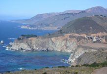 View of the Pacific Coast Highway, California State Route 1, Big Sur. Photo by Jim Pond