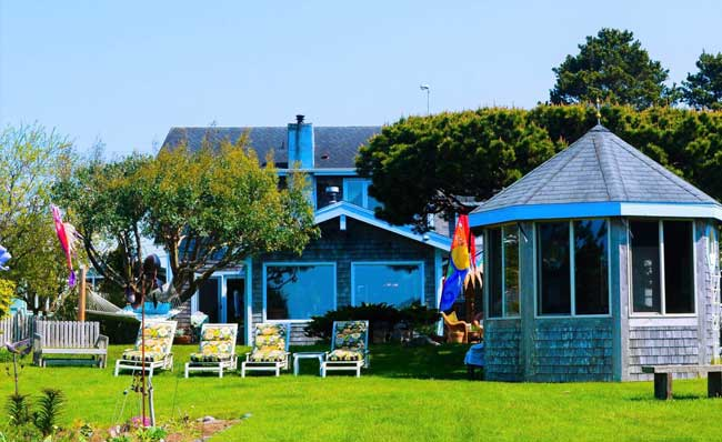 The Boreas Bed & Breakfast Inn in Long Beach has a beautiful location near the ocean. Photo courtesy Boreas Bed & Breakfast.