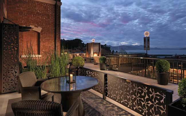 Private Patio at Fairmont Heritage Place Ghirardelli Square. Photo by Fairmont Heritage Place