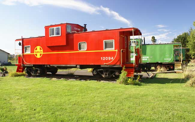Bed and Breakfast Inns in Washington State -- At the Red Caboose Getaway, guests can stay in one of nine refurbished steel cabooses. Photo courtesy Red Caboose Getaway