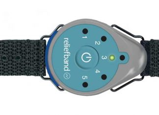 The Reliefband uses a technique called neuromodulation, which uses the body's natural neural pathways to block the waves of nausea produced by the stomach.