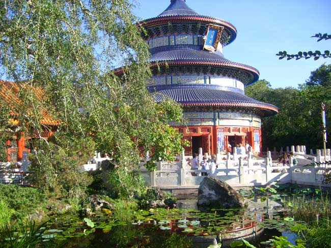 The China Pavilion at Epcot, Walt Disney World. Photo by Janna Graber