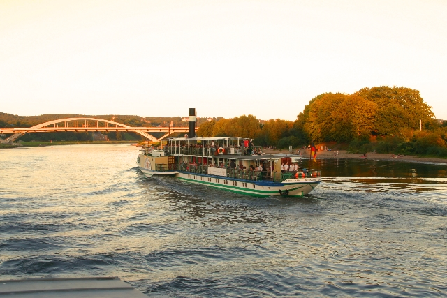 Elbe river steamship in Dresden
