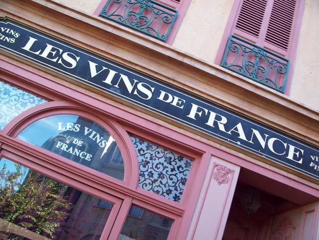 In France at Epcot, you can find fine wines and perfumes. Photo by Janna Graber