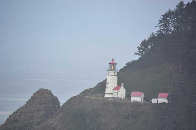 Haceta Head Light on the central coast of Oregon. Photo by Debbie Miller Pond