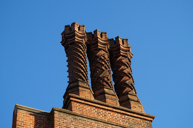 Hampton Court Palace chimneys