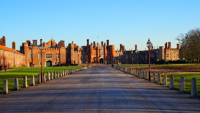 Hampton Court Palace front view