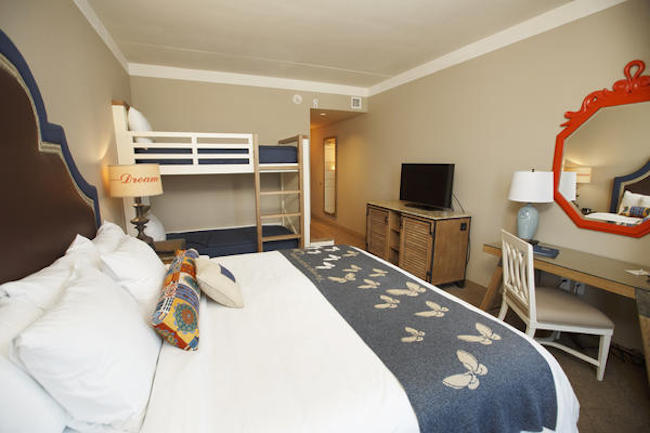 Standard king room with bunk beds - photo courtesy of DreamMore Resort