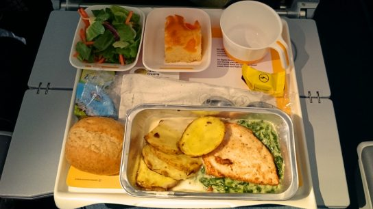 Lufthansa airplane meal