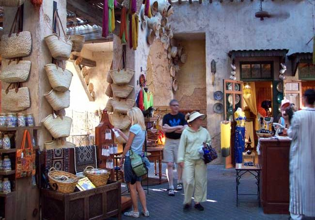 Shopping in Epcots Morocco Pavilion. Photo by Benjamin Rader