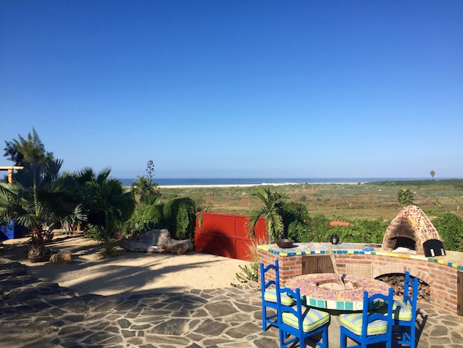 Outdoor BBQ for guests at Baja Beach Oasis, photo by Claudia Carbone