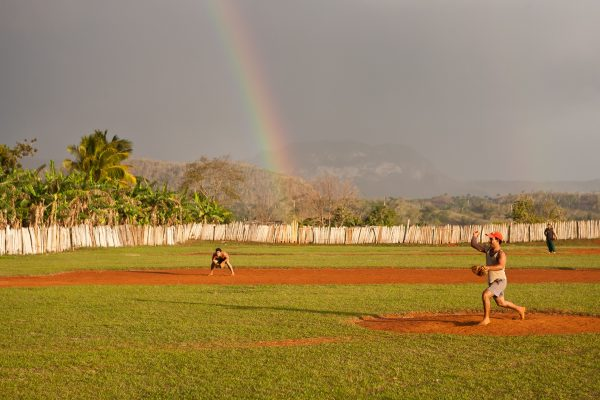 "The author found this ""Field of Dreams"" while driving around western Cuba. Most of the players were tobacco farmers. Lots of shoe-less Joe Jacksons. Photo by Rob Born"