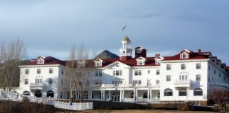 The historic Stanley Hotel in Estes Park, CO Photo by Claudia Carbone