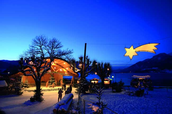 The nativity scene in Strobl, Austria. Photo by Austria Tourist Office