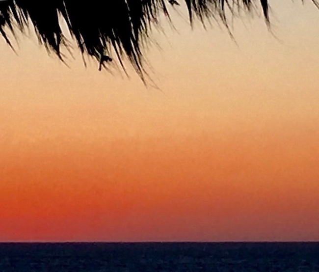 Sunset at Baja Beach Oasis, photo by Claudia Carbone