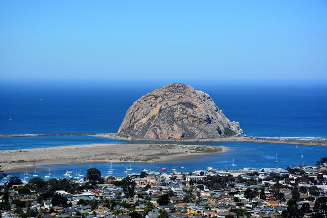 Morro Rock in Morro Bay, CA. Photo by Jim Pond