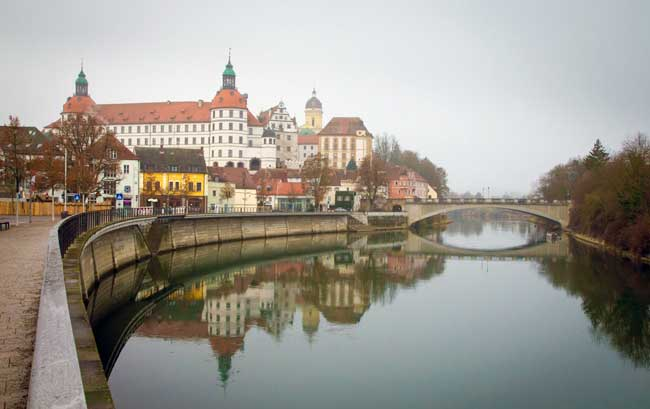 Neuburg Castle stands along the Danube in Neuburg on the Danube in Germany. Photo by Benjamin Rader