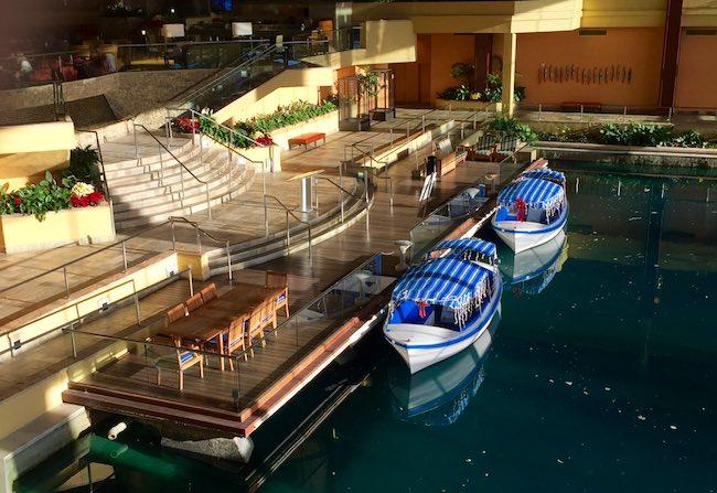 Boat dock inside hotel