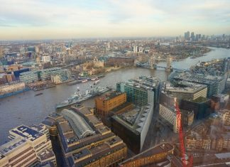 Amazing London view from the Shangri-La