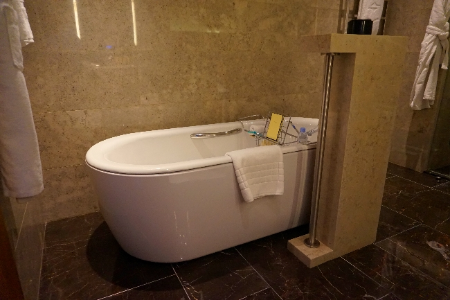 Bathtub in luxury hotel room