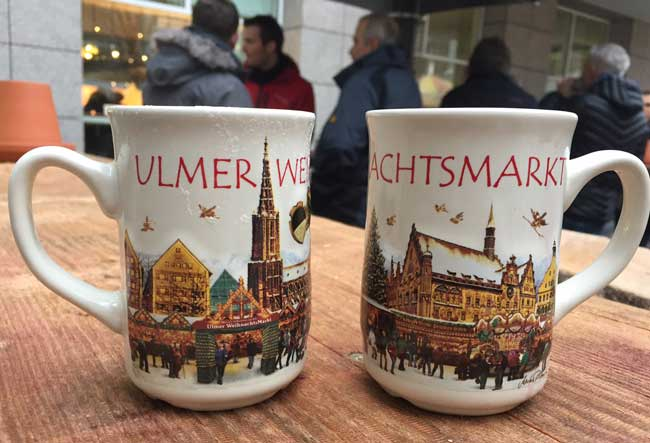 Christmas markets in Germany come in all sizes. The large Christmas market in Ulm receives more than 1 million visitors a year. Photo by Benjamin Rader