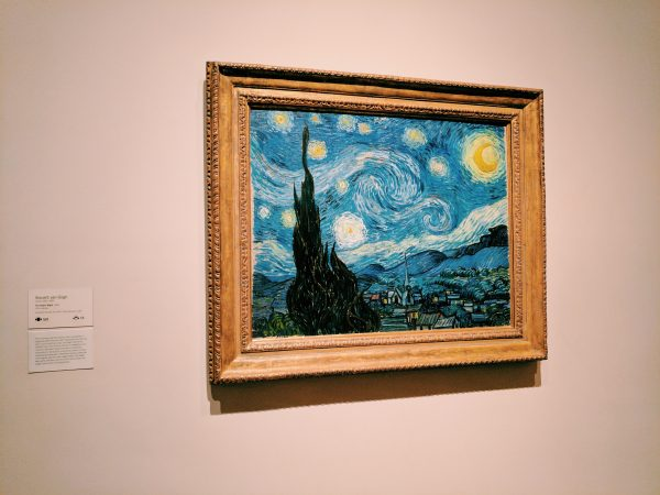 Vincent van Goghs Starry Night painting. Photo by Kelsey Nelson