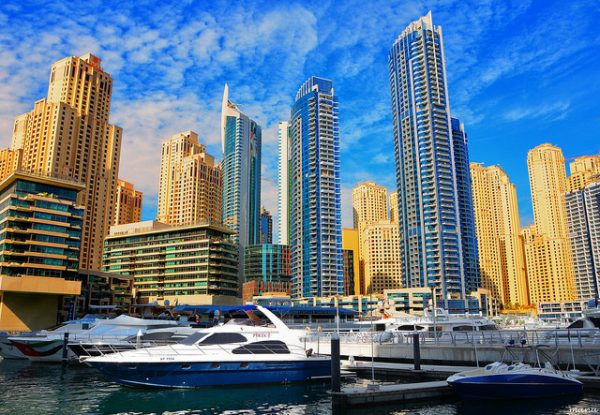 The Dubai Marina. Photo by Flickr/lensnmatter