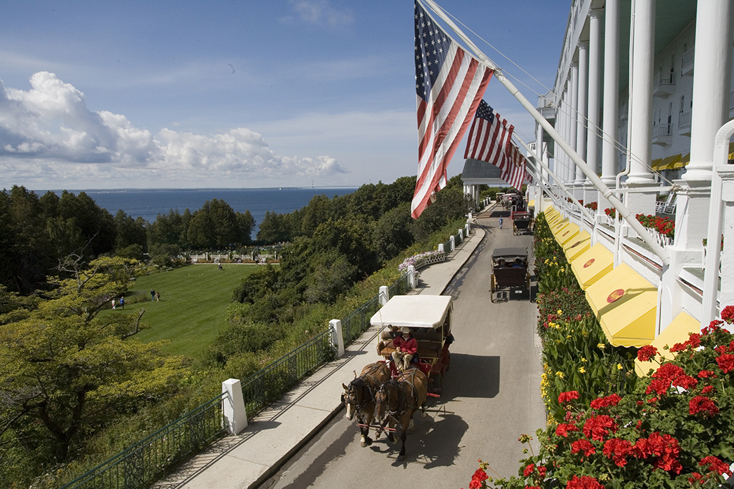 Horse and carriage in front of the Grand Hotel, photo courtesy of The Grand Hotel
