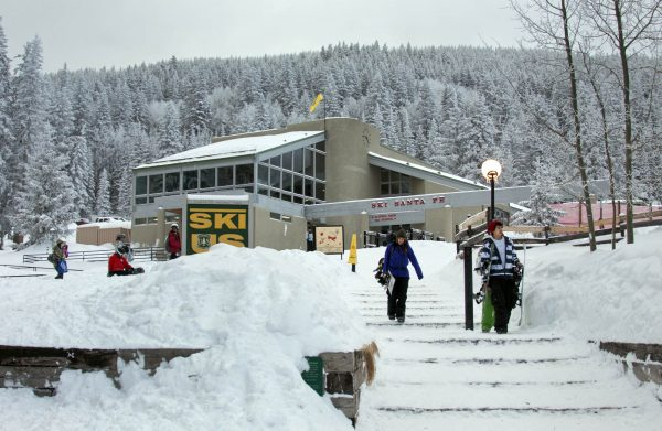 Base lodge at Ski Santa Fe. Photo by Dino Vournas
