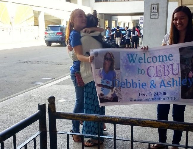 Arriving in Cebu to see my oldest daughter. Photo courtesy Debbie Pond