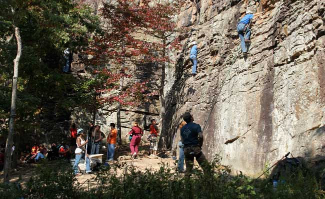 Guests can try rock climbing at Horseshoe Canyon Dude Ranch. Photo by Horseshoe Canyon