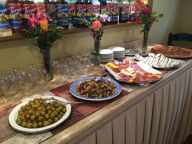 Happy Hour spread, photo courtesy of Frisco Inn on Galena